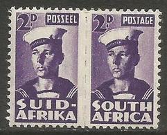 South Africa - 1943 Sailor 2d Pair MNH **   SG 100a  Sc 93 - South Africa (...-1961)