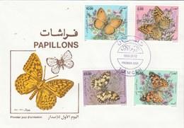 Algérie FDC 1996 Yvert Série 1112 à 1115 Papillons - Algeria (1962-...)