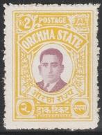 British India ORCHHA STATE 1935 - SG 24, 2r - Maharaja Vir SIngh II - MH - Orchha