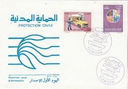 Algérie FDC 1996 Yvert Série 1116 Et 1117 Protection Civile - Voiture - Algeria (1962-...)