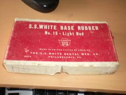 S S White Base Rubber No 15 Light Red  Made In United States Of America The S S White Dental M F G Co Philadelphia PA - Medical & Dental Equipment