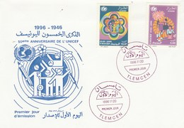 Algérie FDC 1996 Yvert Série 1120 Et 1121 UNICEF - Algeria (1962-...)