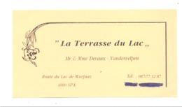 """Carte De Visite -   Restaurant  """" La Terrasse Du Lac """"  SPA (van) - Cartes De Visite"""