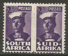 South Africa - 1943 Sailor 2d Pair MH *   SG 100  Sc 93 - South Africa (...-1961)