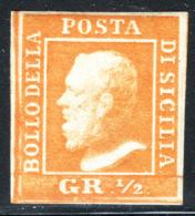 Sicilia 1859 Sass.2 */MH VF/F - Cert.Raybaudi - Sicilia