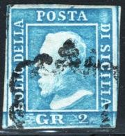 Sicilia 1859 Sass.8 O/Used VF/F - Sicilia