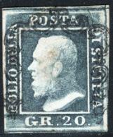 Sicilia 1859 Sass.13 O/Used VF/F - Sicilia