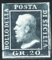 Sicilia 1859 Sass.13 (*)/MNG F - Sicilia