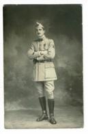 Carte Photo Studio - Militaire Du 2e (cavalier, Médaillé Croix De Guerre Avec Citation) - Photo A Tallon, Langres - Postcards
