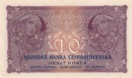 Czechoslovakia 10 Korun 1927 AUNC/UNC UNPERFORETED!!! - Tchécoslovaquie