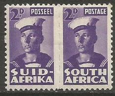 South Africa - 1943 Sailor 2d Pair MH *   SG 100a  Sc 93 - South Africa (...-1961)