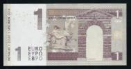 1 Euro, Typ A2 = Kurzes Bull-Horn, Entwurf, Test Note, RRRR, UNC,  Ca. 115 X 58 Mm, Essay, Trial - EURO