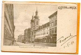 Gruss Aus Wien Vienna Austria 1898 Postcard - Wien Mitte