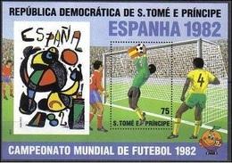 1982St Tome E Principe760/B821982 World Championship On Football Of Spanien12,00 € - Coppa Del Mondo