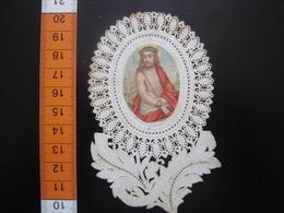 IMAGE PIEUSE Santini Holy Card JESUS Dentelle - Images Religieuses