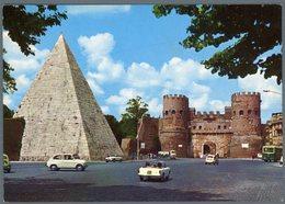°°° Cartolina N. 163 Roma Piramide Di Caio Cestio E Porta S. Paolo Nuova °°° - Roma (Rome)