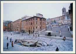 °°° Cartolina N. 164 Roma Piazza Di Spagna Nevicata Dell'inverno 1985 Nuova °°° - Roma (Rome)