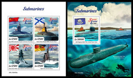 SIERRA LEONE 2019 - Submarines. M/S + S/S Official Issue. - Sierra Leone (1961-...)