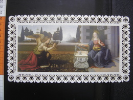 Grande IMAGE PIEUSE Santini Holy Card MARIE ANGELUS DOMINI Officina D'Arte Torre Nr° 176 Dentelle - Images Religieuses