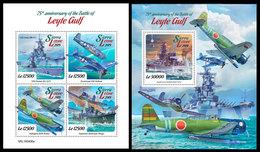 SIERRA LEONE 2019 - WW2: Leyte Gulf. M/S + S/S Official Issue. - Sierra Leone (1961-...)