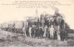 Viaduc Des Fades 63 - Jour Des Essais - Chemin De Fer - Locomotive Train-reproduction à L'ancienne- (lot Pat72) - Autres Communes
