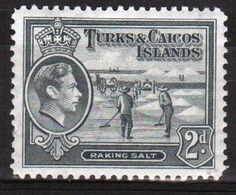 Turks And Caicos 2d Single Stamp From The 1938 Definitive Set. - Turks And Caicos