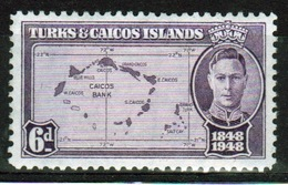 Turks And Caicos 6d Single Stamp From The Centenary Of The Separation From The Bahamas Set. - Turks And Caicos
