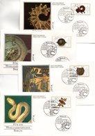 """Westberlin 4 Schmuck-FDC Mi. 789/92 """"Wohlfahrt: Gold- Und Silberschmiedekunst"""" ESSt 15.10.1987 BERLIN 12 - FDC: Covers"""