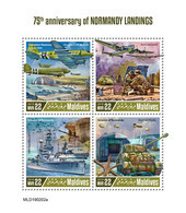MALDIVES 2019 - World War 2: Normandy. Official Issue - WW2