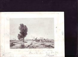 Gravure Ancienne ,canal De L'ourcq Pres De Pantin - Stiche & Gravuren