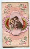 STE SAINTE CATHERINE 0049  Carte Double Avec Livret  Bonnet Tissu Rose Couple Amoureux - Sainte-Catherine