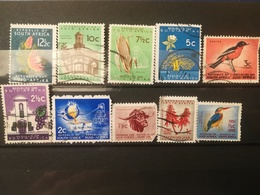 FRANCOBOLLI STAMPS SUD AFRICA SOUTH 1961 USED DEFINITIVE LOCAL MOTIVE ANIMAL MOTIVI LOCALI ANIMALI RSA - South Africa (1961-...)