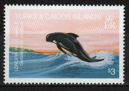 Turks And Caicos $3 Single Stamp From The 1983 Whales Set. - Turks And Caicos