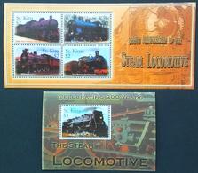 St.Kitts 2004**Mi.Klb.804-07, Bl.61 Trains [16;65,66,67] - Treinen