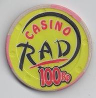 Jeton De Casino : Casino RAD : 100 Rp - Casino
