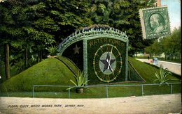 CPA - Horloge Fleurie - Detroit