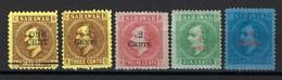 Sarawak, N° 26 à 30 * Charnière ( Protectorat Britannique ) Belle Qualité - Sarawak (...-1963)