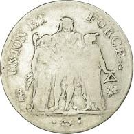 Monnaie, France, Union Et Force, 5 Francs, AN 9, Bayonne, B+, Argent - France