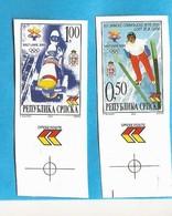 2002 235-36 SPORT OLYMPIADE SALT LAKE CITY BOBFAHREN SKISPRING  BOSNIA REPUBLIKA SRPSKA  RRR IMPERFORATE MNH SELTEN - Winter 2002: Salt Lake City