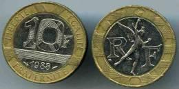 France 10 Francs 1988 GAD 827 KM 964.1 - France