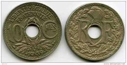 France 10 Centimes 1939 Points GAD 287 KM 889.1 - France