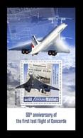 Maldives 2019 Mih. 8288 (Bl.1322) Aviation. Supersonic Airliners Concorde MNH ** - Maldives (1965-...)
