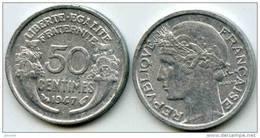 France 50 Centimes 1947 GAD 426b KM 894.1a - France