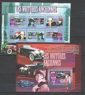 R458 2007 DE GUINEE AUTOMOBILES CARS LES VOITURES ANCIENNES 1KB+1BL MNH - Voitures