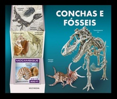 Mozambique 2019 Mih. 10200 (Bl.1480) Prehistoric Fauna. Shells And Fossils MNH ** - Mozambique
