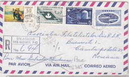 Canada 1969 Circulated Envelope To Romania, Airmail - Poste Aérienne