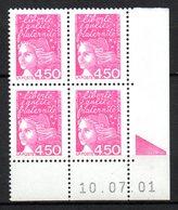 Col12   France Coin Daté N° 3096 Luquet 10 07 2001 Sans Pho  Neuf XX MNH Luxe - 2000-2009