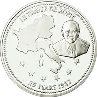 France, Médaille, Le Traité De Rome, History, FDC, Argent - France
