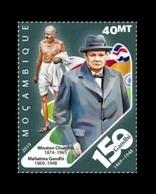 Mozambique 2019 Mih. 10232 Mahatma Gandhi Moments. Winston Churchill - Critic Of Gandhi MNH ** - Mozambique