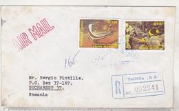 Panama 1990 Circulated Envelope To Romania, Airmail , Registered - Panama